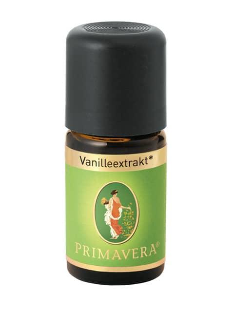 """Vanilleextrakt bio Ätherisches Öl von Primavera. Verbreitet über die Duftlampe oder Difuser ein Gefühl von """"Zuhause ankommen"""" und Gemütlichkeit. Wunderbar in Kombination mit Orange Bio."""