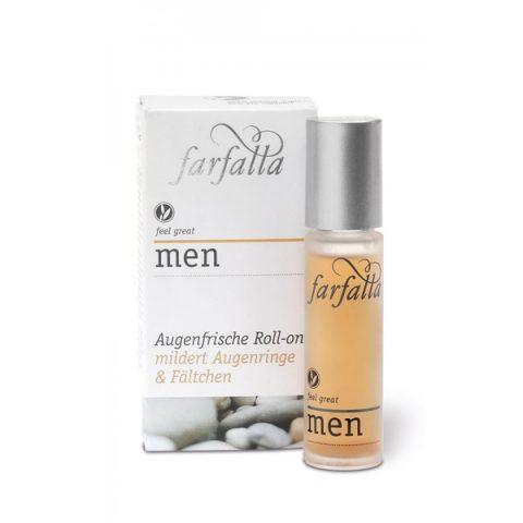 Men Augenfrische Roll-on. Für strapazierte Augen! Wunderbare Bio-Wirkstoffkosmetik für Männer.Aloa Vera unterstützt die Zellregeneration. Inhalt: 10ml