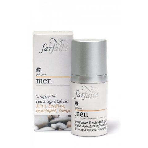 Men Straffendes Feuchtigkeitsfluid.Bio-Wirkstoffkosmetik für Männer. Unkompliziert & praktisch,herb-frisch & natürlich wirksam. FEEL GREAT! Inhalt: 30ml