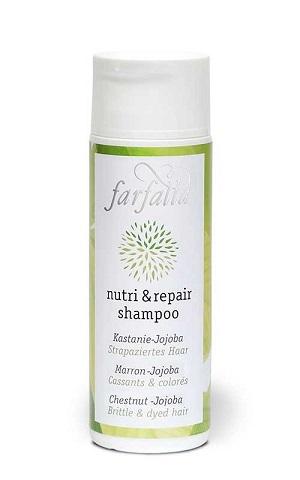nutri und repair shampoo Kastanie-Jojoba.- 200ml - NaTrue Zertifizierte Naturkosmetik! Ätherische Öle von Zitrusfrüchten vitalisieren die Kopfhaut