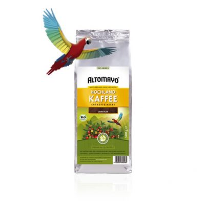 Hochlandkaffee entkoffeiniert - Altomayo