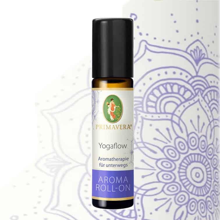 Yogaflow Aroma Roll-On von Primavera. Die bewusste Atmung ist der Schlüssel zur inneren Ruhe.Der Atemfluss wird intensiviert, die Wahrnehmung wird geschärft.