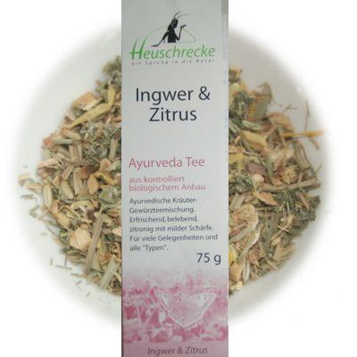 Ingwer& Zitrus  Ayruveda Tee - Heuschrecke