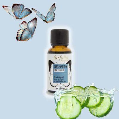 Gurkensamenöl bio - Pflegeoel Feuchtigkeit Farfalla