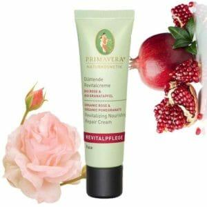 Glättende Revitalcreme Rose und Granatapfel Primavera