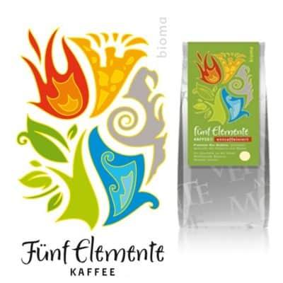 Fünf Elemente Kaffee CO2-entkoffeiniert - Bioma