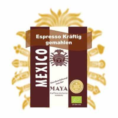 Espresso kräftig gemahlen aus Mexiko - Maya Kaffee